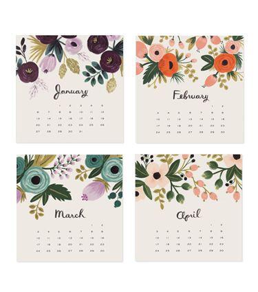 2013 Botanical Desk Calendar  http://riflepaperco.com/item/2013_Botanical_Desk_Calendar/340/c44#