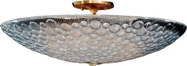 Ceiling Fixture DAVID MICHAEL LIGHTING Round 8-Light Brass Venetian Glas DM-1025