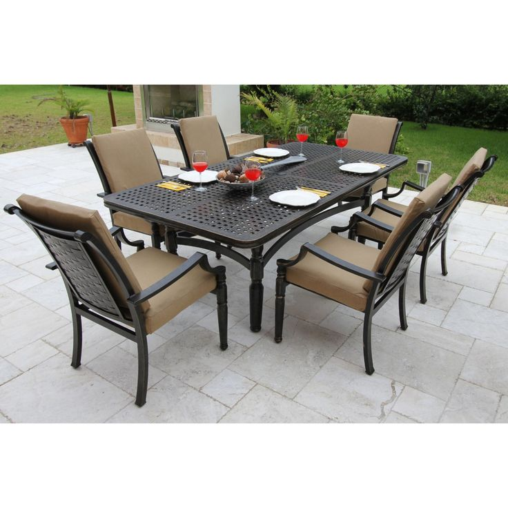 Bellini Conrad 7PC Wicker/Cast Aluminum Patio Dining Set