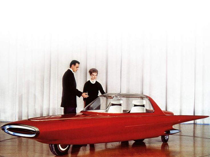 Voici une étrange voiture futuriste, pourtant de 1961, un prototype malheureusement.... Il s'agit de la Ford Gyron, à deux roues, qui comme son…
