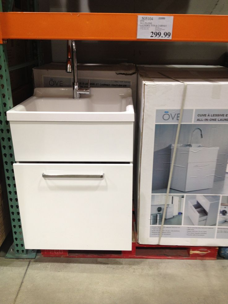 COSTCO $299 Utility sink for garage bathroom. Not first choice, but could work!