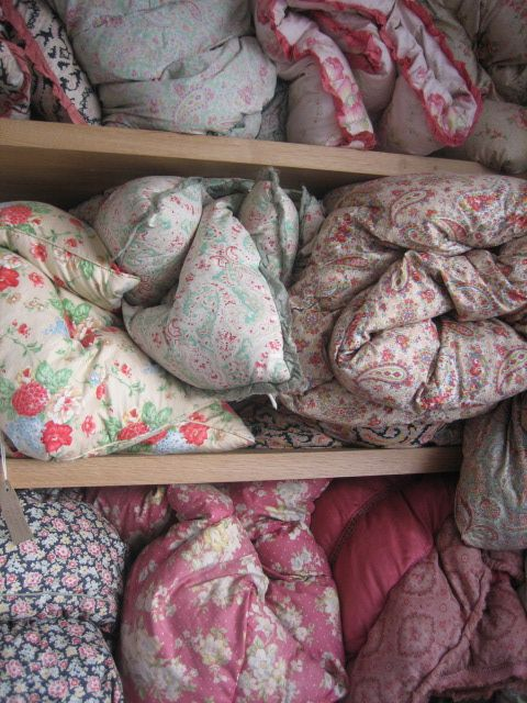 I'll need to get the eiderdowns out for the sleeping porch.............