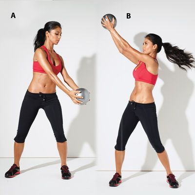 Nicole Scherzinger's 5 Moves to Fab Arms and Abs: Reverse Chop
