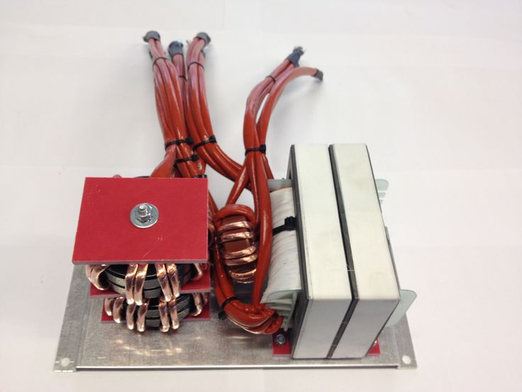 Trasformatore e induttanza per caricabatterie 70 KHz 9 Kw - Transformer and inductance per battery charge 70 KHz 9 Kw