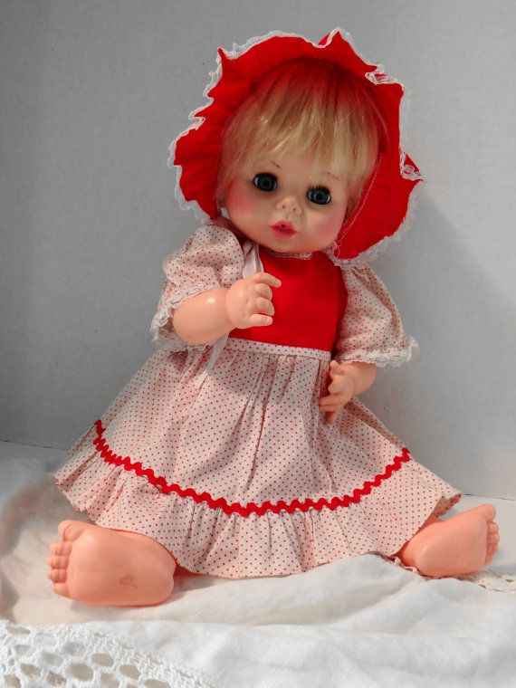 Vintage 70's Horsman Baby Girl Doll Moving by MyYourTreasure