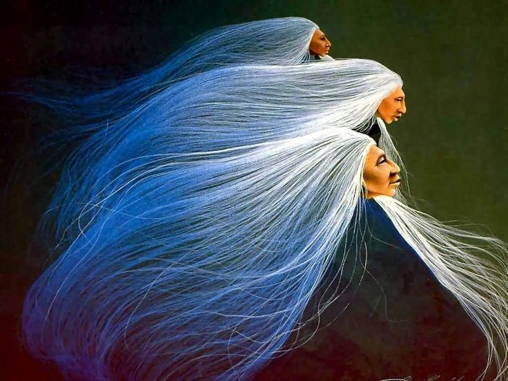 """Wisdom of the Grandmothers ~ """"The spirit Grandmothers hold council deep within the body of Mother Earth to discuss the current state of our Earth. They ponder how to awaken the women who are warriors, protectors and daughters of Mother Earth."""" ~ Leah Marie Dorion.  (Songs for Questions, Artist Frank Howell)"""