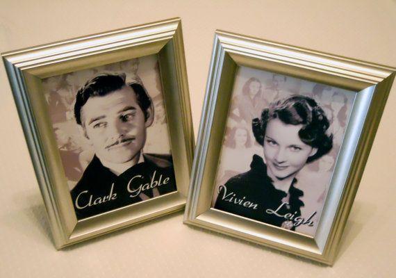 Vintage Hollywood Celebrity Table Numbers by StoriadAmoreDesigns, $1.80