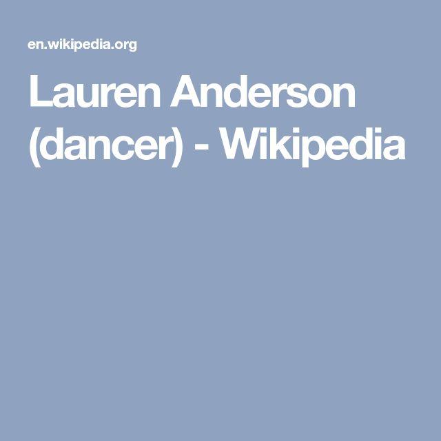 Lauren Anderson (dancer) - Wikipedia