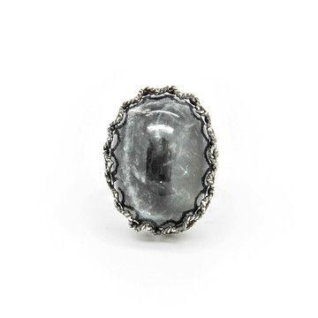 '70s Stone Ring Gray