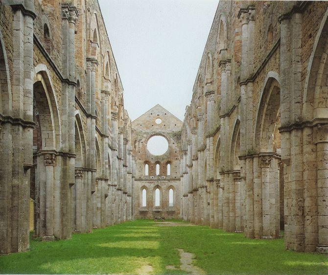 Abbazia di San Galgano Epoca: XI secolo Stile: Gotico Luogo: Chiusdino, Siena