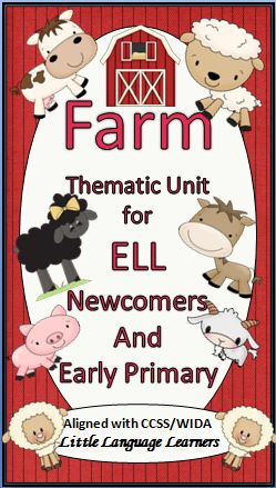 This Farm Animals Thematic Unit is designed for ELL newcomers K-5 and early primary general ed. students. Your students will learn the unit's concepts and vocabulary through poems, read alouds, writing prompts, language learning strategies, guided writing techniques, math activities, art/writing projects and much more. CCSS and WIDA standards are provided.