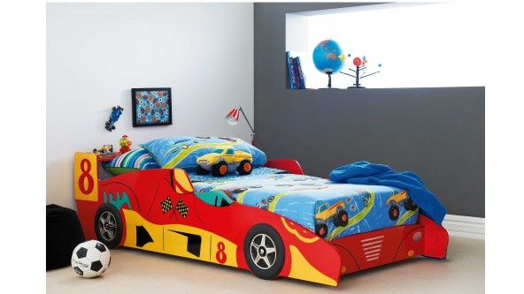 Kids Bedroom Harvey Norman trax is a race car bed that offers the perfect base for a themed