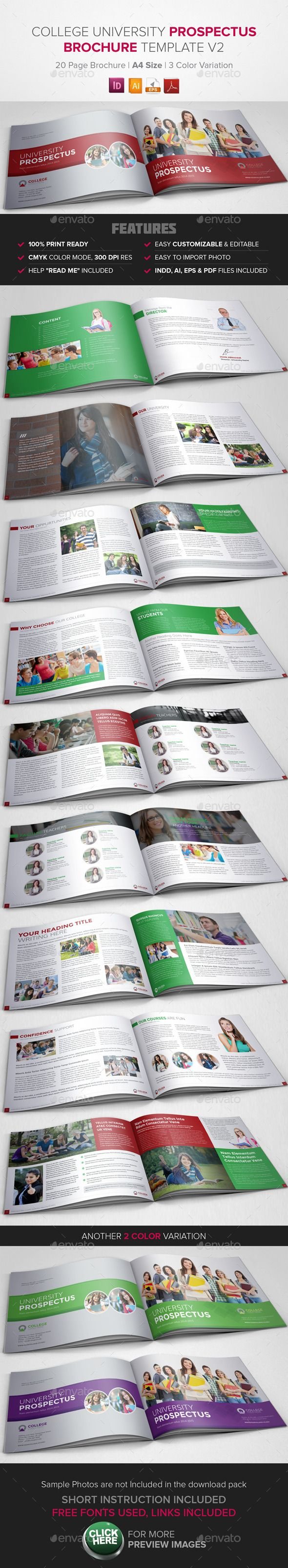 17 best images about school collateral on pinterest for College brochure templates free download