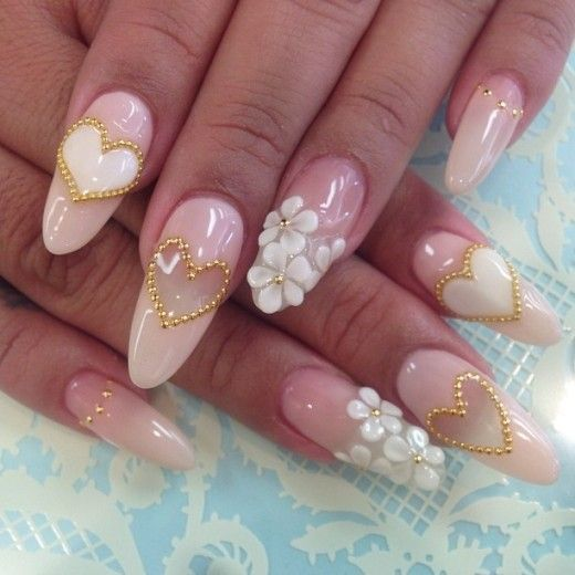 288 best nail art images on pinterest 3d nails art pretty nails 3d nail art design ideas this is a beautiful pick design wedding worthy prinsesfo Gallery