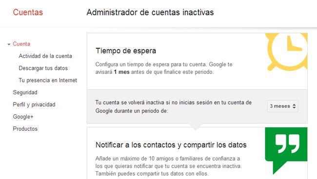 Google lanza una nueva herramienta para administrar cuentas inactivas