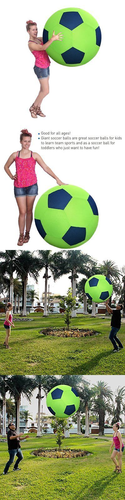 Balls and Balloons 145987: 40 Inch Huge Ball - Inflatable Giant Soccer Ball -> BUY IT NOW ONLY: $45 on eBay!