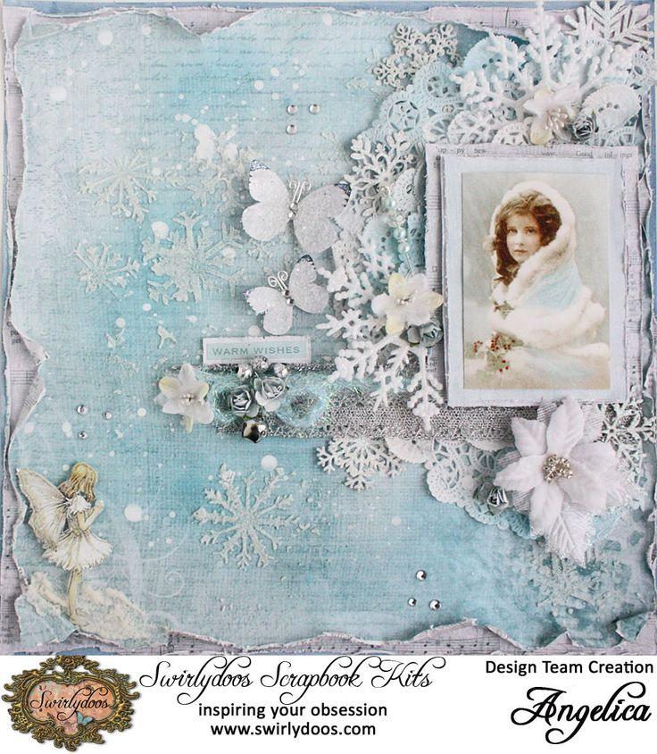 Swirlydoos Kit Club * Peach and Joy - Kaisercraft - Silver Bells Collection