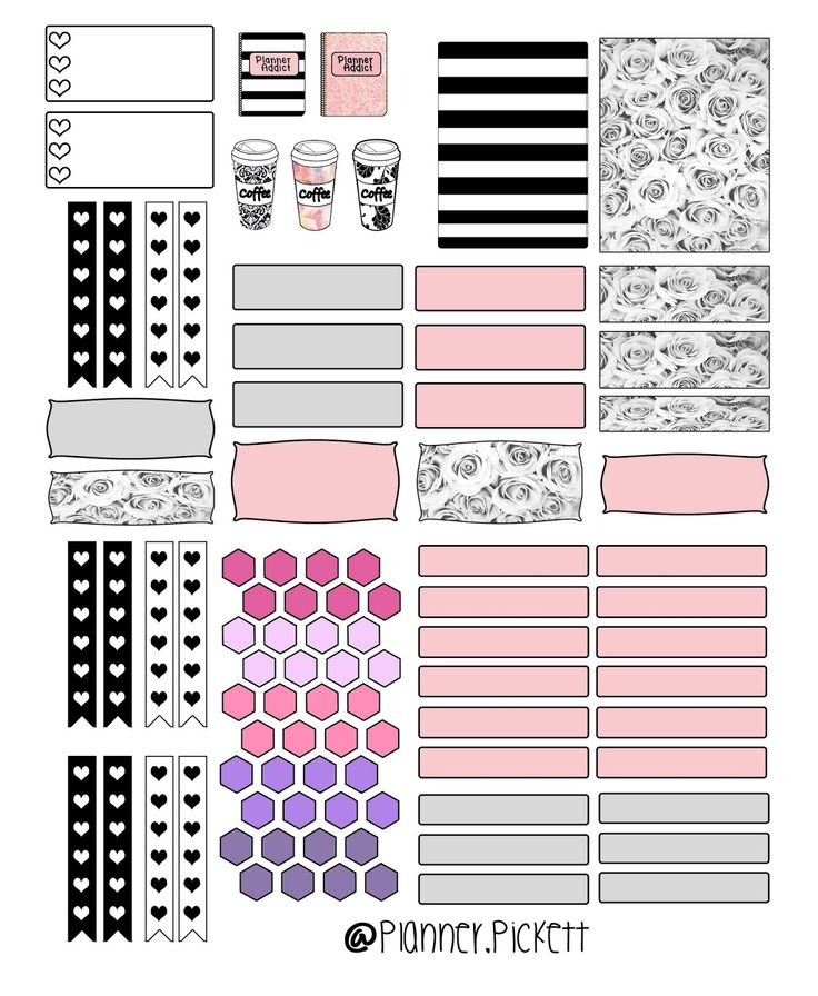 ..:: Full Faith ::..: CHANEL THEME PLANNER STICKERS - free printable planner stickers