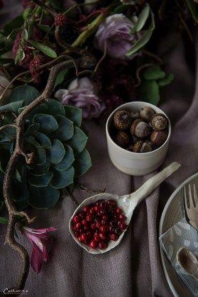 Herbst, violett, pruple decoration, fall, floral deoration, fall decor, floral garland, fall fruits
