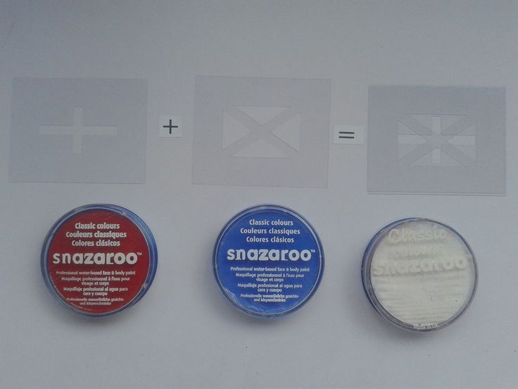 Union Jack face painting set inc stencils & paint  Britain  tourism  fundraising #DazzleGlitterTattoos #TemporaryTattoosHenna