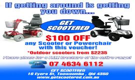 $100.00 OFF any Scooter or Powerchair from GetScootered