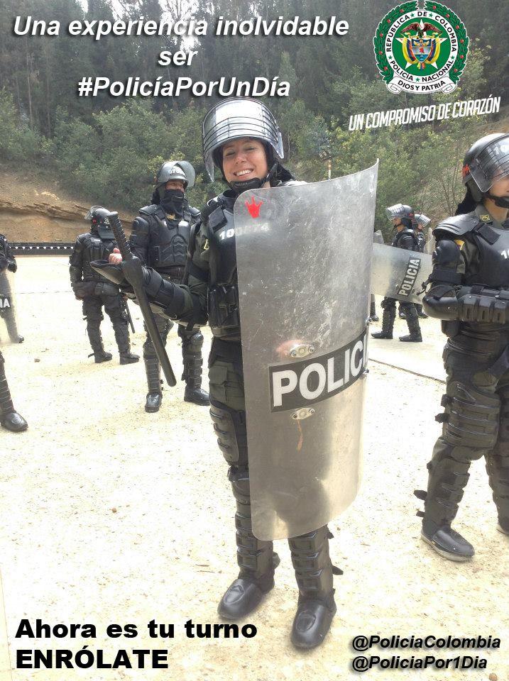 ¿Quieres saber cómo es nuestra labor? vive la experiencia. #PolicíaPorUnDía, http://bit.ly/PoliciaPorUnDiaCol