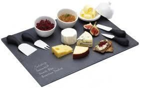 Kitchen Craft Chalk and Cheese Slate Board Serving Gift Set | eBay