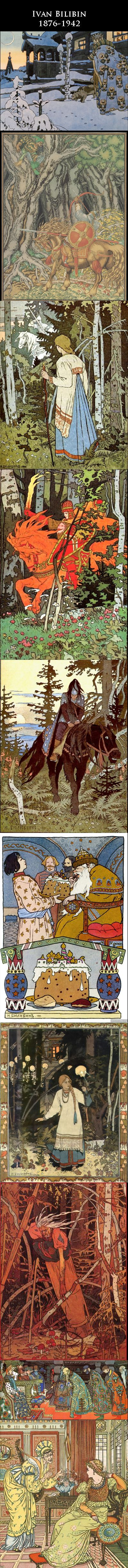 Tribute to the works of Ivan Bilibin