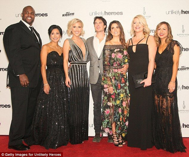 Septet: (from left) Event Chairs Kenyon Coleman and Katie Coleman stood alongside hostess Savannah Chrisley, special guest Somerhalder, Reed, Greve and hostess Anjelah Johnson