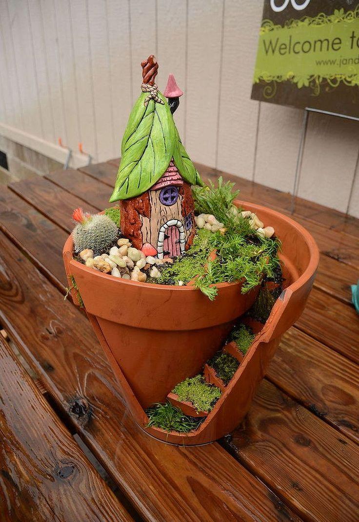 DIY Amazing Plants Fairy Garden Ideas 49