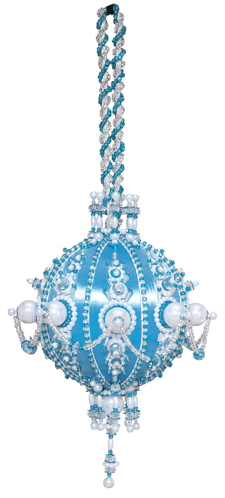 Cracker Box Christmas Ornament Kit, Breathtaking. Love the beads and sequins! Vintage style.