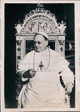 1937 Portrait His Holiness Bishop Rome Pope Pius XI Vatican City Press Photo