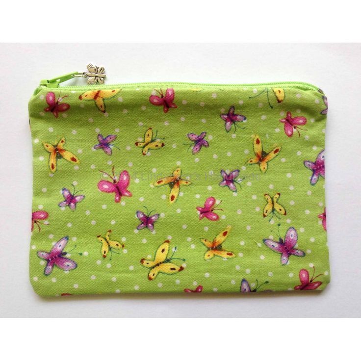 Pretty little purse with butterflies by Lindabears Handmade for $7.50
