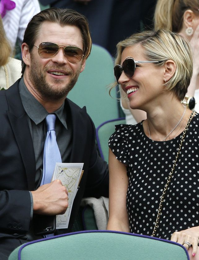 Chris Hemsworth y Elsa Pataky muy acaramelados en Winbledon