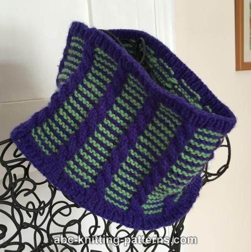 ABC Knitting Patterns - Cute Cables Cowl