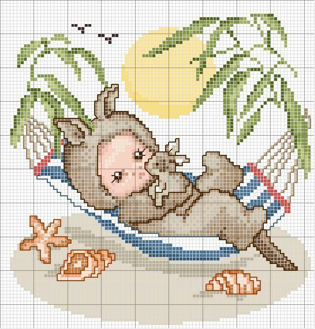 Schema punto croce Canguro-baby