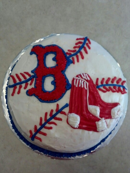 My spin on the Red Sox cake