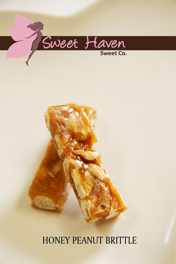 Individually wrapped mini peanut and honey brittle bars in a reseal able pouch pack (100g). #SweetHaven