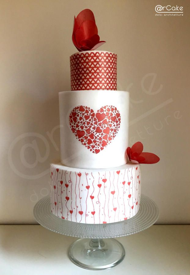 the heart cake - Cake by @arcake