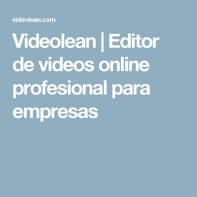 Videolean | Editor de videos online profesional para empresas