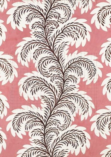 Fernholme (1938) Greeting card from the Warner Textile Archive