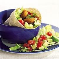 Recept - Wraps met vegetarische nuggets - Allerhande