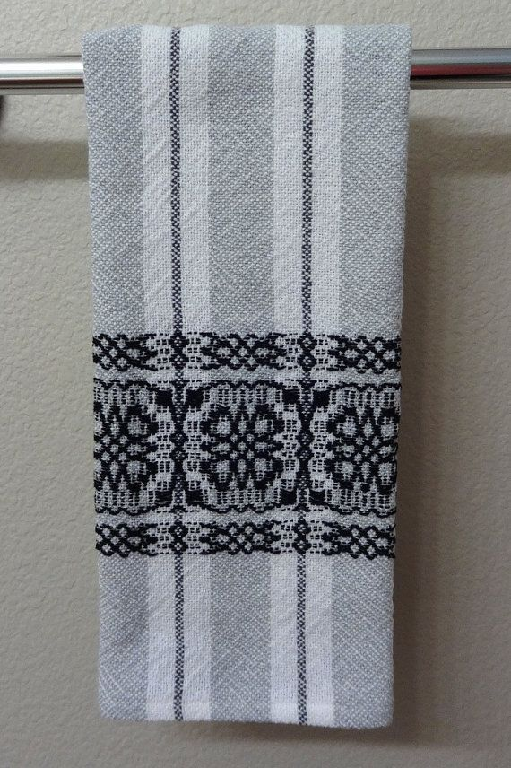 Woven Cotton Towel for Kitchen or Bath White by eweniquelyewe