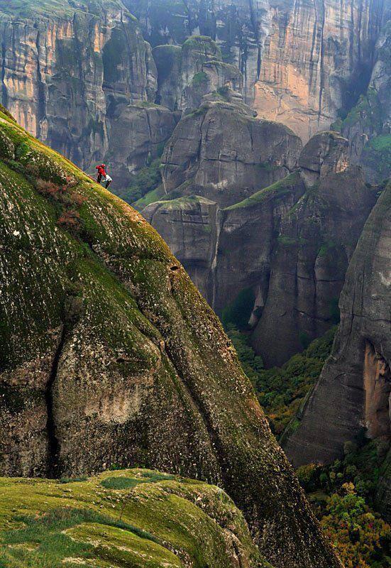 One of the best regions in Greece for climbing - Meteora, Greece.