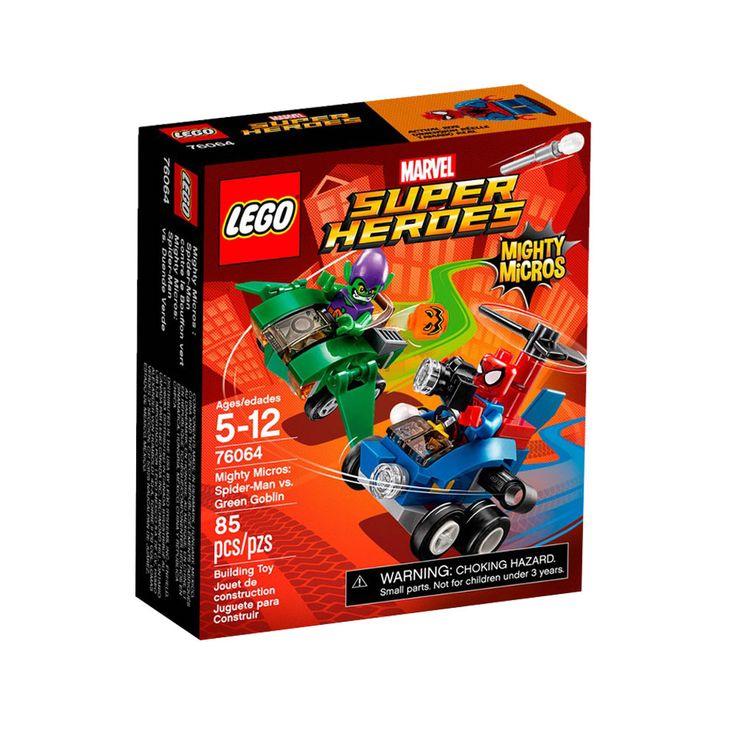 Faça parte de uma batalha épica com o espetacular Lego Super Heroes Marvel - Poderosos Micros Homem Aranha Contra Duende-Verde.   Eles estão em uma perseguição alucinante com seus microcarros equipados para batalha.   Inclui uma minifigura do Homem Aranha e outra do Duende Verde tornando as brincadeiras ainda melhores.   Com este incrível Lego as crianças vão poder soltar a imaginação e usar toda a criatividade para criarem as mais espetaculares historinhas, tudo com muita alegria e…