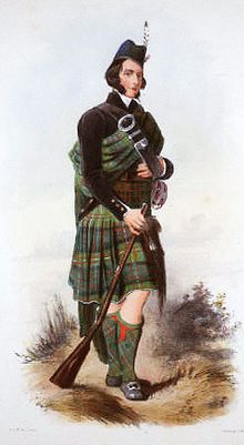Clan MacDonell of Glengarry is a Scottish clan and is a branch of the larger Clan Donald.[1] The clan takes its name from Glen Garry where the river Garry runs eastwards through Loch Garry to join the Great Glen about 16 miles (25 km) north of Fort William, Highland.
