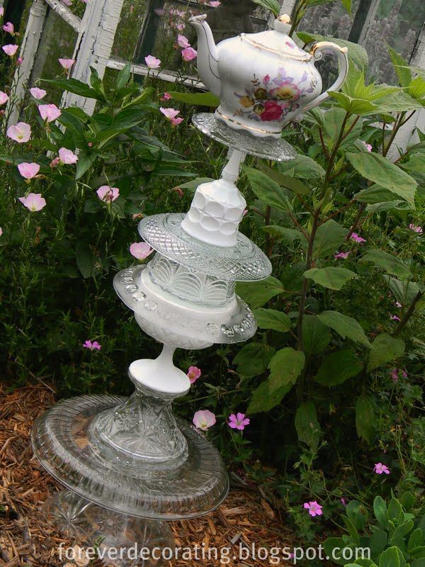 I Have Been Collecting Glass Pieces For Making A Garden Art Totem From  Garage Sales And Thrift Stores, Plus Some At Antique Stores.
