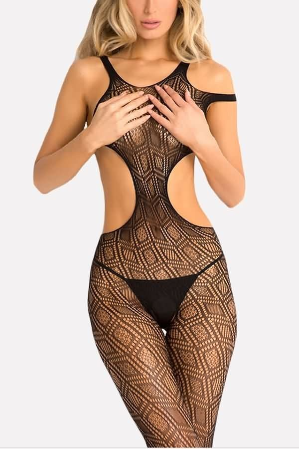 b604d5eb0e1c Black Mesh Cutout Crotchless Sexy Bodystocking #054930 @ Sexy Teddies for  Women,Lingerie Teddys,Leather Teddy,Lack Teddies,Silk Teddy,Sheer Teddy, Crotchless ...