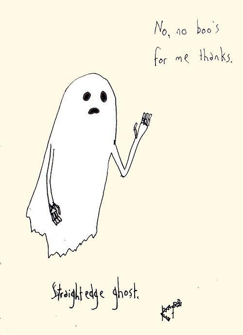 This Ghost Has the Straight Edge