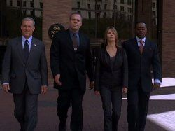Vincent D'Onofrio, Kathryn Erbe, Courtney B. Vance, and Jamey Sheridan in Law & Order: Criminal Intent (2001)